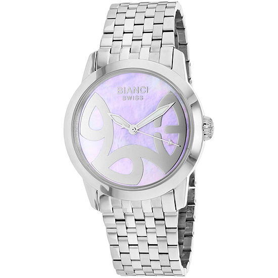 Roberto Bianci Womens Silver Tone Stainless Steel Bracelet Watch-Rb18580