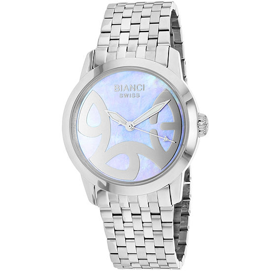 Roberto Bianci Womens Silver Tone Stainless Steel Bracelet Watch-Rb18581