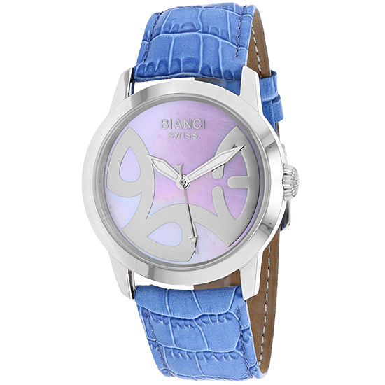 Roberto Bianci Womens Blue Leather Bracelet Watch-Rb18584