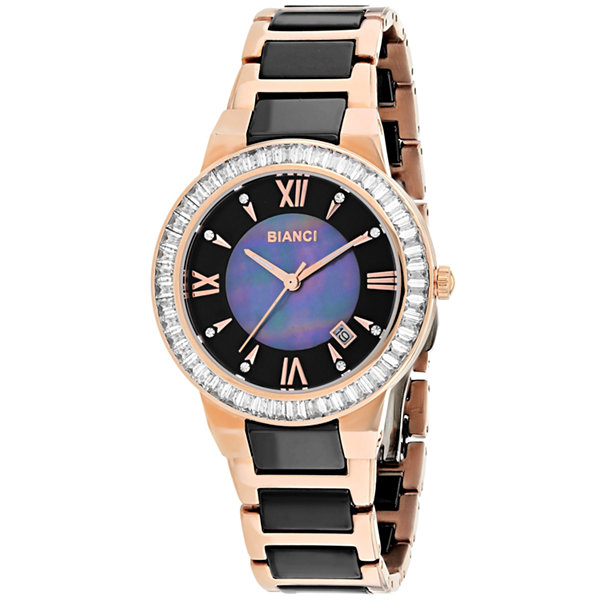 Roberto Bianci Womens Two Tone Bracelet Watch-Rb58720
