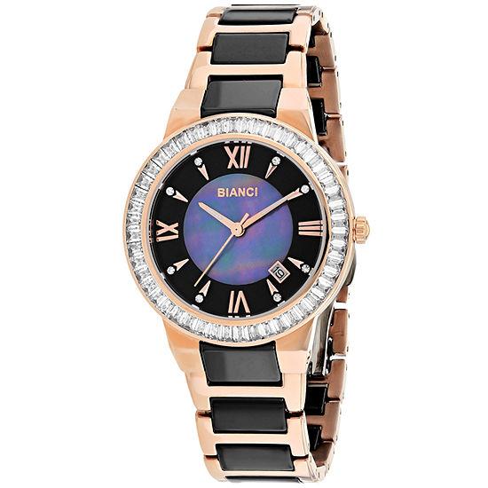 Roberto Bianci Womens Two Tone Bracelet Watch-Rb58720