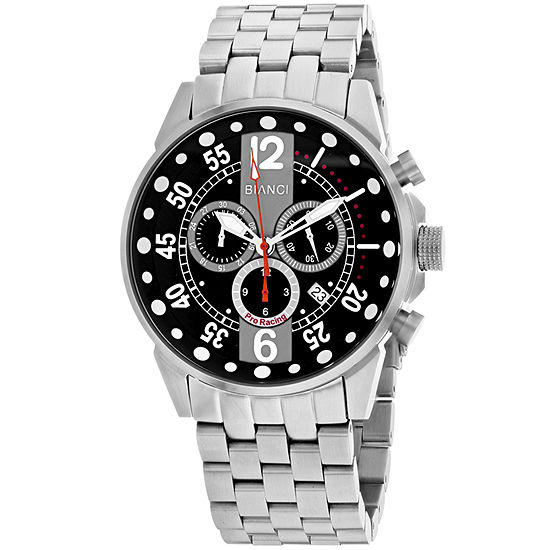 Roberto Bianci Mens Silver Tone Stainless Steel Bracelet Watch-Rb70981