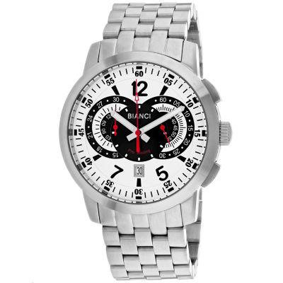 Roberto Bianci Mens Silver Tone Bracelet Watch-Rb70962