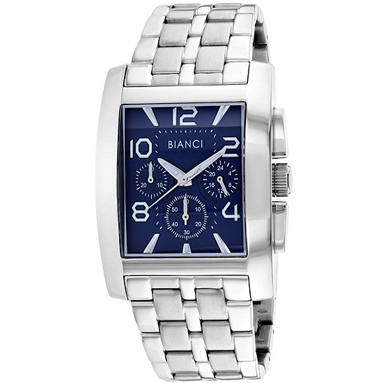 Roberto Bianci Mens Silver Tone Stainless Steel Bracelet Watch-Rb54450