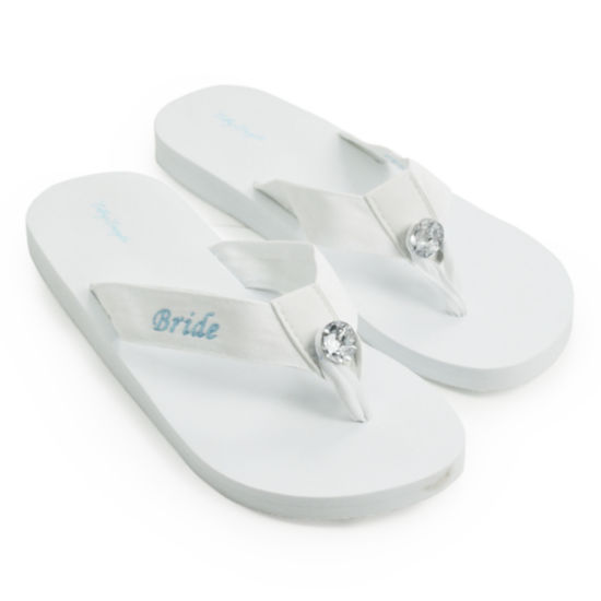 Cathy's Concepts Bride Flip Flops