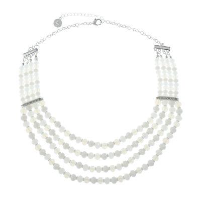 Liz Claiborne Womens Clear Beaded Necklace