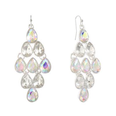 Liz Claiborne Liz Claiborne White Chandelier Earrings PMomy58p4