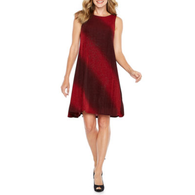 Robbie Bee Sleeveless Ombre Shift Dress