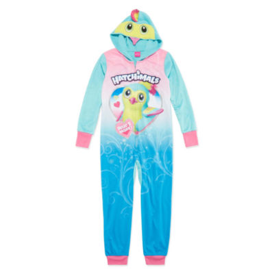 Hatchimals Long Sleeve One Piece Pajama-Big Kid Girls