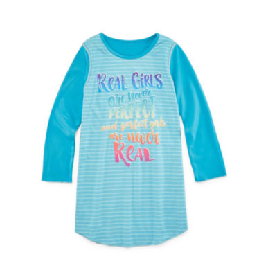 Cloud 9 Long Sleeve Nightshirt-Big Kid Girls