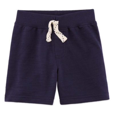 Okie Dokie Solid Pull-On French Terry Shorts - Baby Boy NB-24M