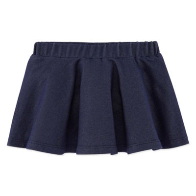 Okie Dokie Knit Denim Scooter Skort - Baby Girl NB-24M