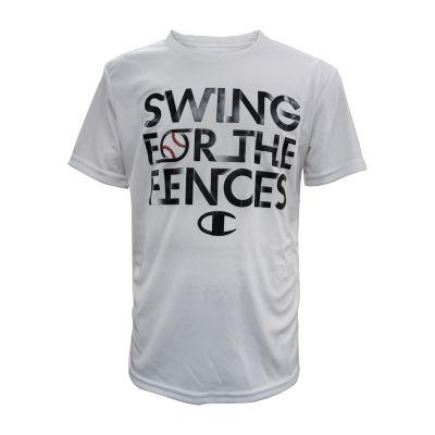 Champion Boys Crew Neck Short Sleeve Graphic T-Shirt-Big Kid
