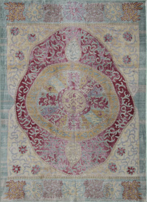 Rugs America Asteria Ruby Red Floral Rug