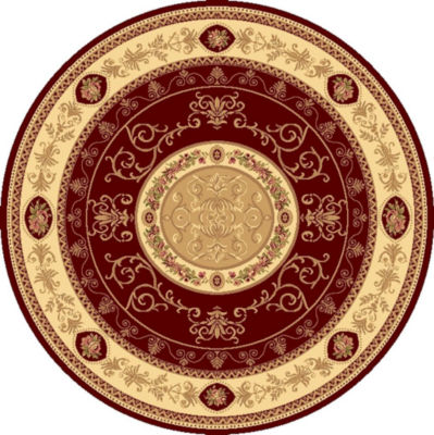 Rugs America New Vision French Aubusson Round Oriental Rug