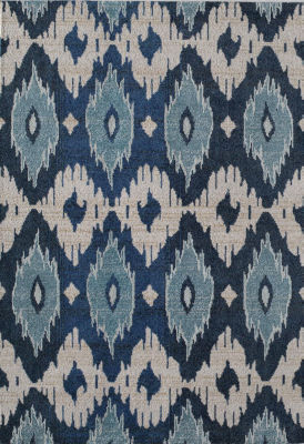 Rugs America Beverly Blue Ivory Abstract Rug
