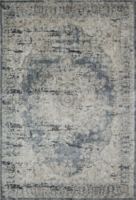 Rugs America Cambridge Blue Tan Abstract Rug