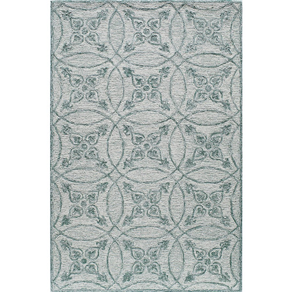 Rugs America Cortland Isle Green Abstract Rug