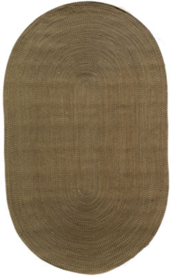 Rugs America Colony Braid Solid Oval Rug