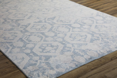 Rugs America Wilshire Blue Escape Oriental Rug