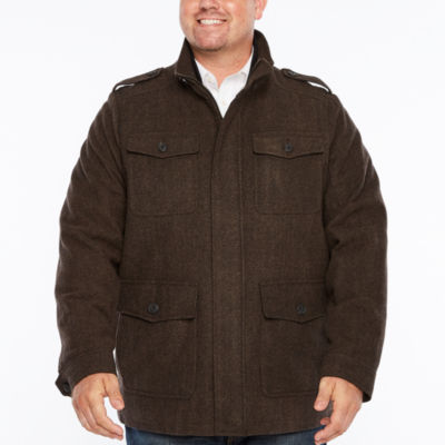 Dockers Wool Military Jacket with Fixed Bib-Big and Tall