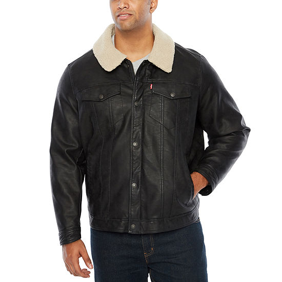 Levi's Faux Leather Midweight Field Jacket-Big and Tall