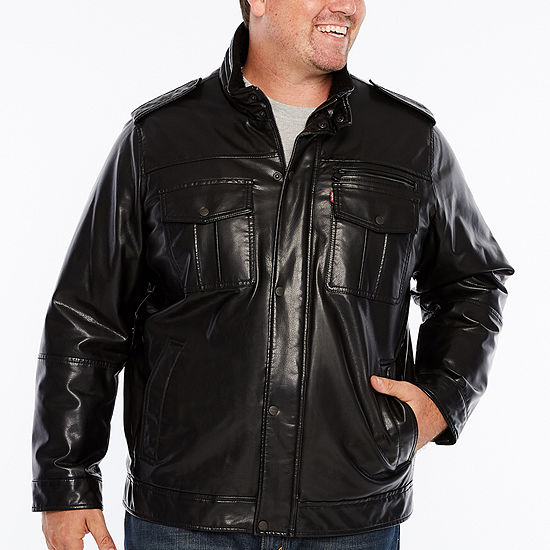 Levi's Sherpa Lined Military Jacket-Big and Tall