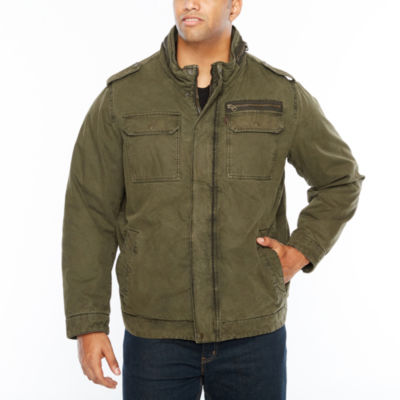 Levi's Cotton Military Jacket with Sherpa Lining - Big and Tall