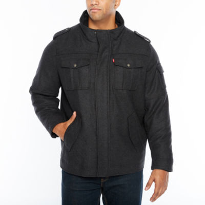 Levi's Wool Blend Hooded Trucker Jacket with Hood-Big and Tall
