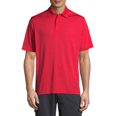 Hanes Sport Quick Dry Short Sleeve Solid Jersey Polo Shirt