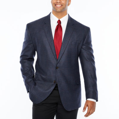 Stafford Classic Fit Woven Checked Sport Coat - Big and Tall