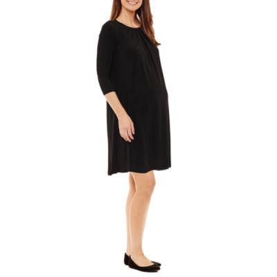 Tiana B 3/4 Sleeve A-Line Dress - Maternity