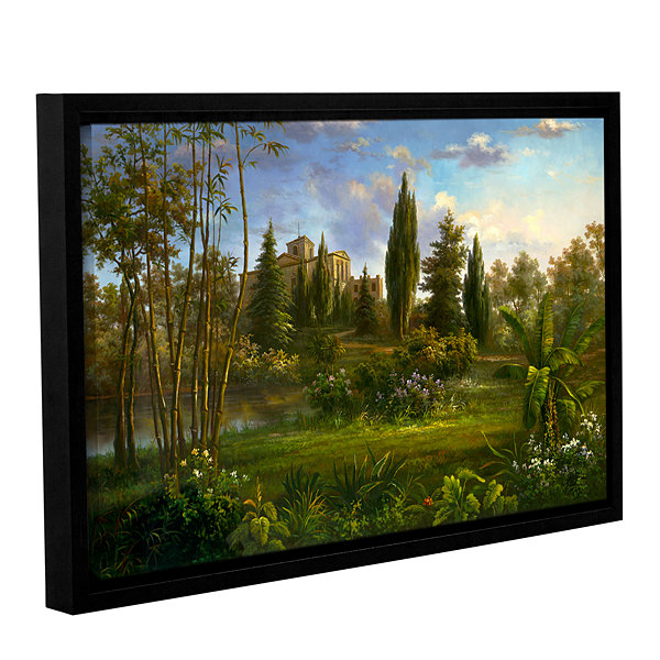 Brushstone Giverny Garden Gallery Wrapped Floater-Framed Canvas Wall Art