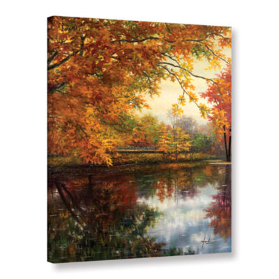 Brushstone Pond At Giverny Gallery Wrapped CanvasWall Art