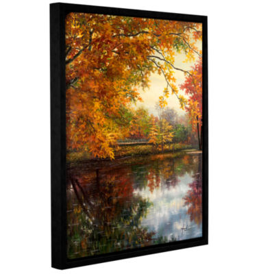 Brushstone Pond At Giverny Gallery Wrapped Floater-Framed Canvas Wall Art