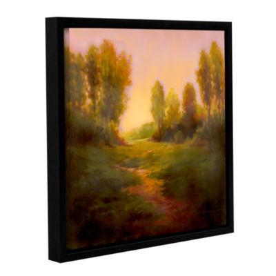 Brushstone Nightfall I Gallery Wrapped Floater-Framed Canvas Wall Art