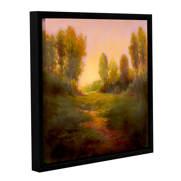Brushstone Nightfall I Gallery Wrapped Floater-Framed Canvas Wall Art