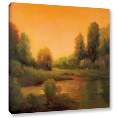 Brushstone Nightfall II Gallery Wrapped Canvas Wall Art