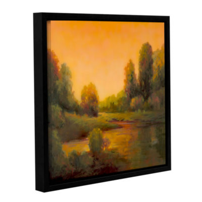 Brushstone Nightfall II Gallery Wrapped Floater-Framed Canvas Wall Art