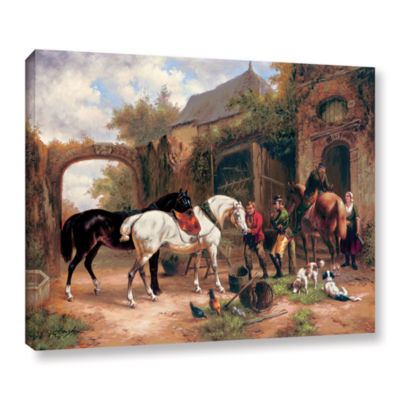Brushstone Before The Hunt I Gallery Wrapped Canvas Wall Art