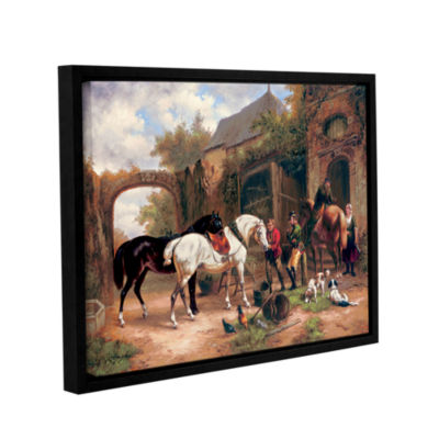 Brushstone Before The Hunt I Gallery Wrapped Floater-Framed Canvas Wall Art