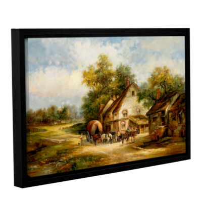 Brushstone Grocers Reprieve Gallery Wrapped Floater-Framed Canvas Wall Art