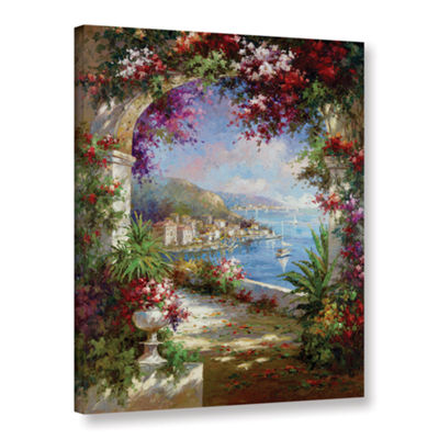 Brushstone Floral Vista Gallery Wrapped Canvas Wall Art