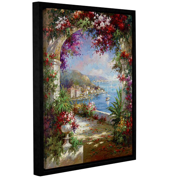 Brushstone Floral Vista Gallery Wrapped Floater-Framed Canvas Wall Art