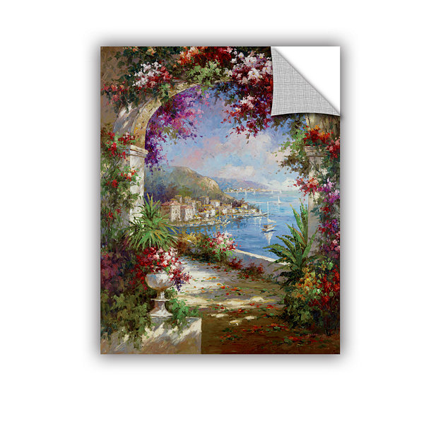 Brushstone Floral Vista Removable Wall Decal