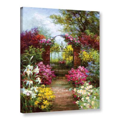 Brushstone Gateway Solitude Gallery Wrapped CanvasWall Art