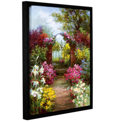 Brushstone Gateway Solitude Gallery Wrapped Floater-Framed Canvas Wall Art