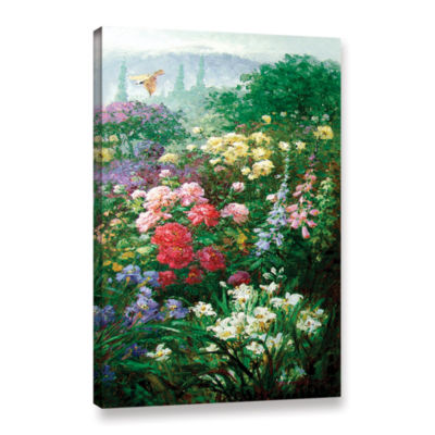 Brushstone Rachel's Garden I Gallery Wrapped Canvas Wall Art