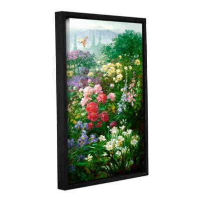 Brushstone Rachel's Garden I Gallery Wrapped Floater-Framed Canvas Wall Art
