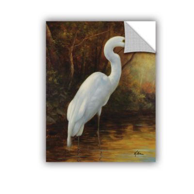 Brushstone Evening Egret II Removable Wall Decal